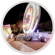 Round Beach Towel featuring the photograph Sacramento State Fair- by JD Mims