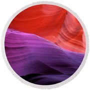 Sacred Colors Round Beach Towel