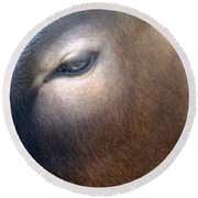 Round Beach Towel featuring the photograph Sacred Cow 5 by Randall Weidner