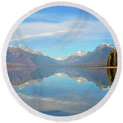 Sacred Dancing Reflections Round Beach Towel