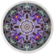 Sacred Emergence Round Beach Towel