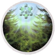 Sacred Forest Event Round Beach Towel