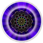 Sacred Geometry 242 Round Beach Towel