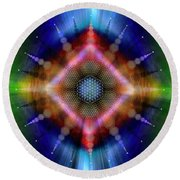 Sacred Geometry 645 Round Beach Towel