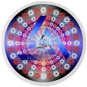 Sacred Geometry 646 Round Beach Towel