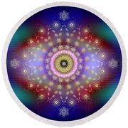 Sacred Geometry 650 Round Beach Towel