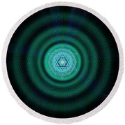 Sacred Geometry 651 Round Beach Towel