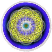 Sacred Geometry 655 Round Beach Towel