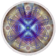 Sacred Geometry 656 Round Beach Towel
