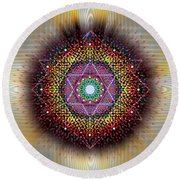 Sacred Geometry 657 Round Beach Towel