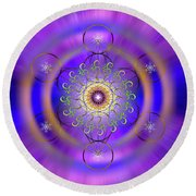 Sacred Geometry 658 Round Beach Towel