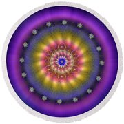 Sacred Geometry 659 Round Beach Towel