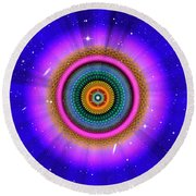 Sacred Geometry 660 Round Beach Towel