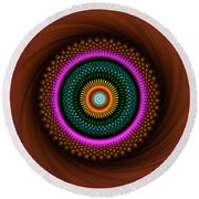 Sacred Geometry 664 Round Beach Towel