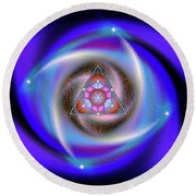 Sacred Geometry 687 Round Beach Towel