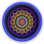 Sacred Geometry 708 Round Beach Towel