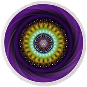 Sacred Geometry 710 Round Beach Towel