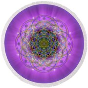 Sacred Geometry 715 Round Beach Towel