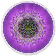 Sacred Geometry 715 Round Beach Towel