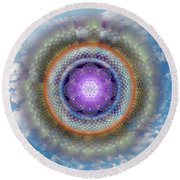 Sacred Geometry 716 Round Beach Towel