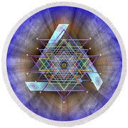 Sacred Geometry 717 Round Beach Towel