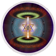 Sacred Geometry 718 Round Beach Towel