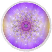 Sacred Geometry 721 Round Beach Towel