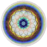 Sacred Geometry 723 Round Beach Towel