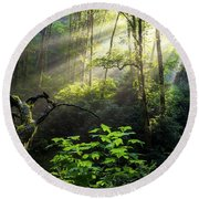 Sacred Light Round Beach Towel
