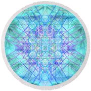 Round Beach Towel featuring the digital art Sacred Symbols Out Of The Void 3b1 by Christopher Pringer