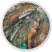 Sacred Union Round Beach Towel