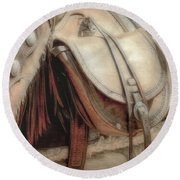 Saddle Bag Round Beach Towel
