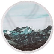 Saddle Mountain Morning Round Beach Towel