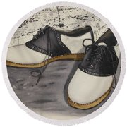 Saddle Shoes Round Beach Towel by Kelly Mills