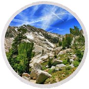 Saddlebag Loop Trail View Round Beach Towel