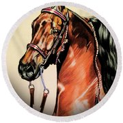 Saddlebreds Round Beach Towel by Cheryl Poland
