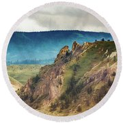 Saddlerock Mountain Round Beach Towel