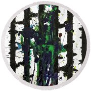 Round Beach Towel featuring the painting Sadie by Robbie Masso