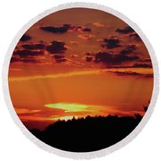 Sadie's Sunset Round Beach Towel