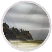 Safe  Passage Round Beach Towel by James Heckt