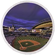 Safeco Field Round Beach Towel by Dan McManus