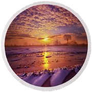 Round Beach Towel featuring the photograph Safely Secluded In A Far Away Land by Phil Koch