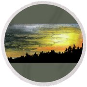 Safety In Numbers Round Beach Towel by R Kyllo