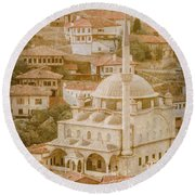 Round Beach Towel featuring the photograph Safranbolu, Turkey - Izzet Pasha Cami by Mark Forte