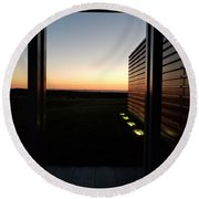 Round Beach Towel featuring the photograph Sag Harbor Sunset 2 by Rob Hans