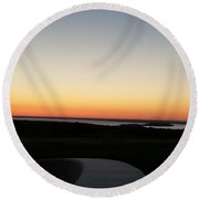 Round Beach Towel featuring the photograph Sag Harbor Sunset 3 by Rob Hans