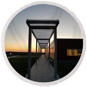 Round Beach Towel featuring the photograph Sag Harbor Sunset by Rob Hans