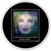 Sage Advice Round Beach Towel by Irma BACKELANT GALLERIES