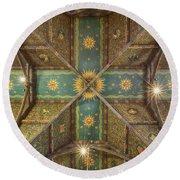 Sage Chapel Ceiling #1 - Cornell University Round Beach Towel