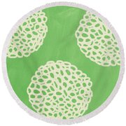 Sage Garden Bloom Round Beach Towel